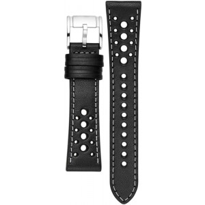 S221249 FOSSIL Q 22MM LIGHT BLACK LEATHER WATCH STRAP