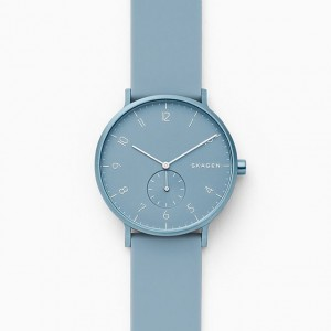 SKW6509 Skagen Aaren Kulor Light Blue Silicone 41mm watch