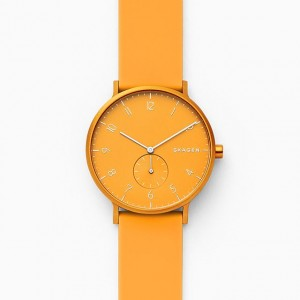 SKW6510 Skagen Aaren Kulor yellow Silicone 41mm watch
