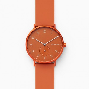 SKW6511 Skagen Aaren Kulor orange Silicone 41mm watch