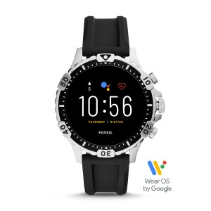 FTW4041 Fossil Gen 5 The Garrett HR Black silicone