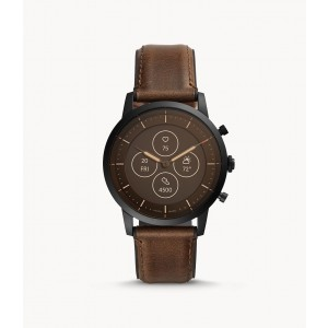 FTW7008 Fossil Hybrid Smartwatch HR Collider Dark Brown Leather