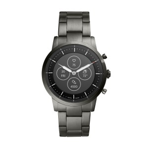 FTW7009 Fossil Hybrid Smartwatch HR Collider Smoke Stainless Steel