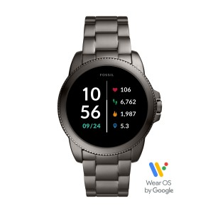 FTW4049 Fossil Gen 5E smartwatch Steeler HR Smoke Stainless Steel